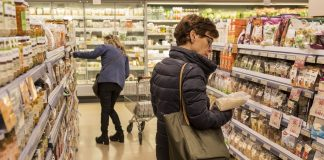 Consumidores, supermercado