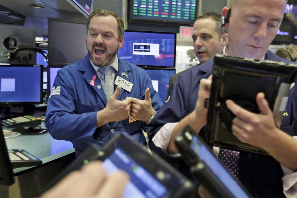 Triple récord para los indicadores de Wall Street