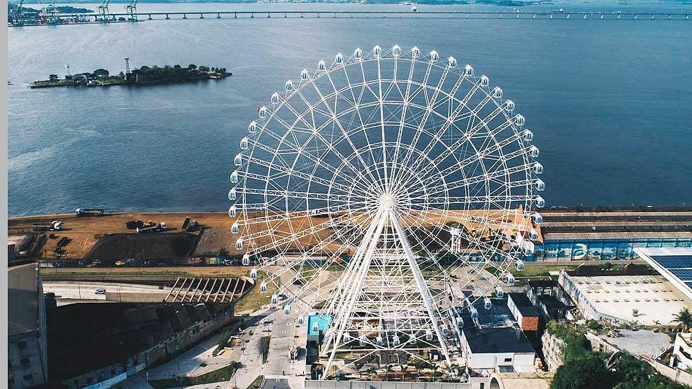 La rueda panorámica, atracción de Rio de Janeiro