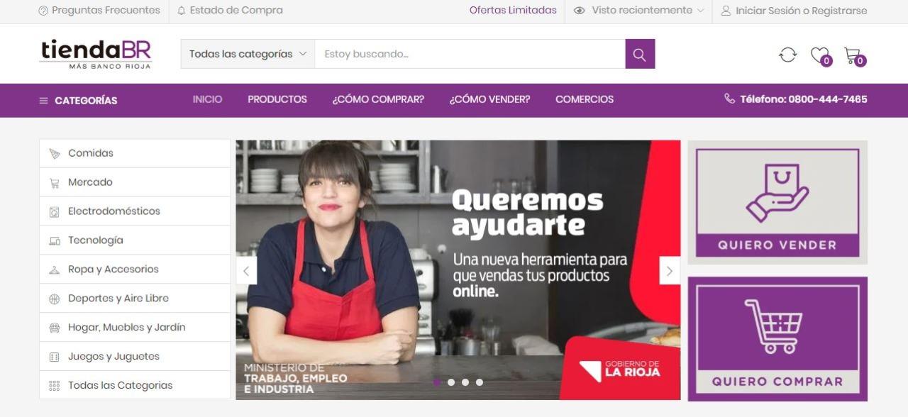 El Gobierno Provincial y Banco Rioja lanzaron juntos TIENDA BR