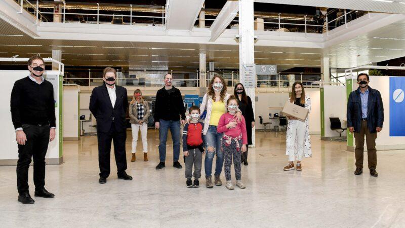 Banco Ciudad promueve el uso de los barbijos inclusivos transparentes