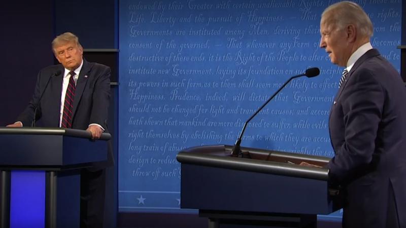 Trump y Biden intercambian insultos en un debate lleno de diafonía