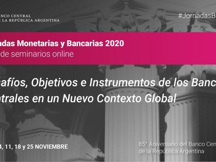 Comienzan hoy las  Jornadas Monetarias y Bancarias 2020 del BCRA