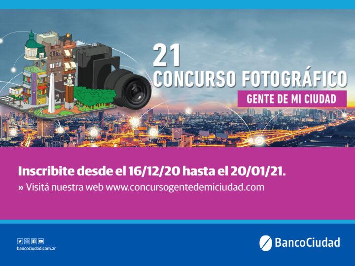 """El Banco Ciudad convoca a la 21° edición del concurso de fotografía """"Gente de mi ciudad"""""""