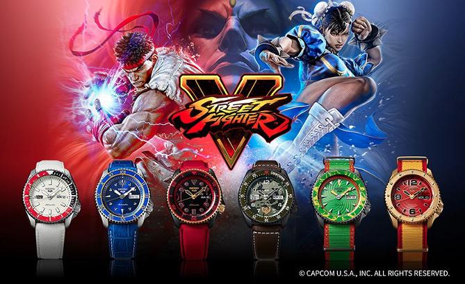 Seiko 5 Sports lanzó su edición limitada Street Fighter V