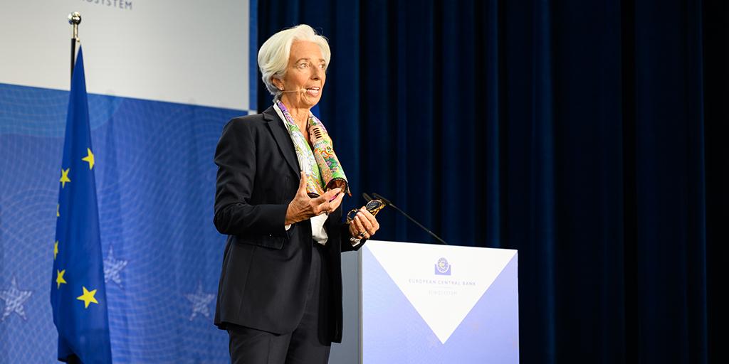 Lagarde advirtió que la eurozona va a una recesión