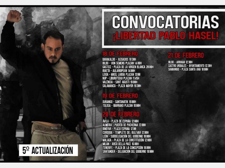Las revueltas tras la condena de Pablo Hasél.