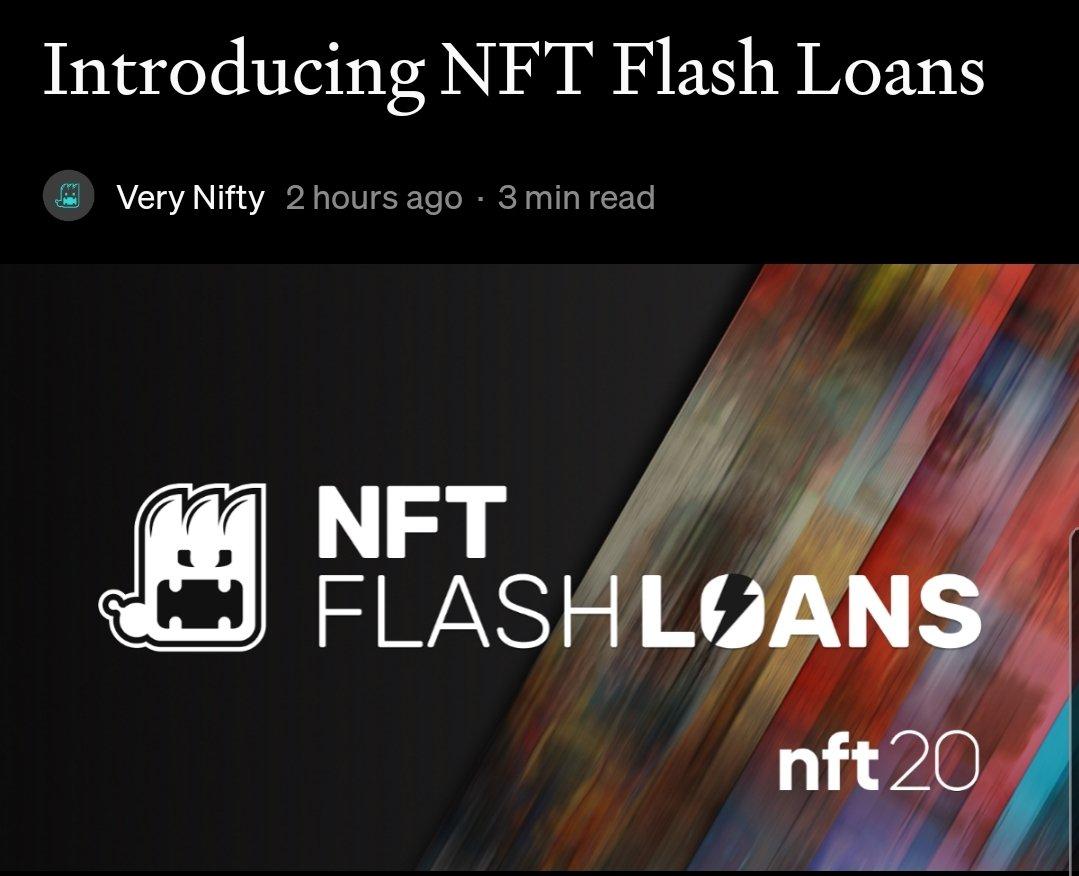 El comercio de NFT activa función Flash Loan