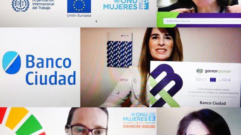 Programa Ganar – Ganar.  El Banco Ciudad fue reconocido por sus avances en Igualdad de Género