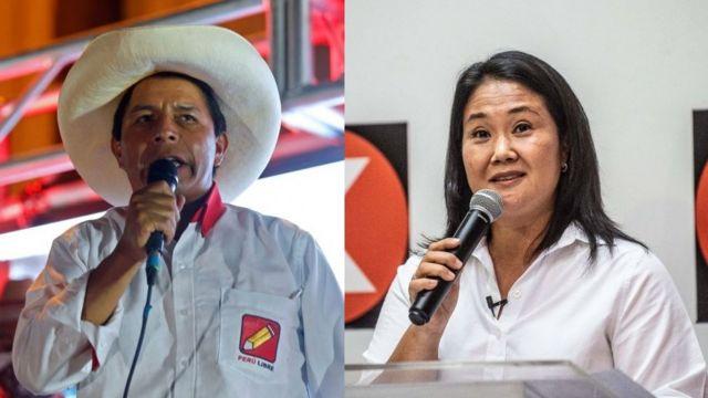 Empate estadístico entre Pedro Castillo y Keiko Fujimori