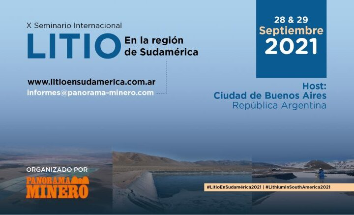 Cambio de sede para el Seminario Internacional Litio en Sudamérica 2021
